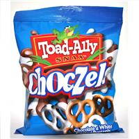 Wholesale Toad Ally White/Chocolate Covered Pretzels