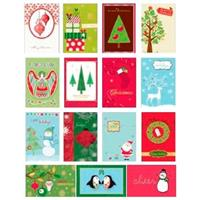 Wholesale Handmade Christmas Assorted 4 Card Value Pack In C