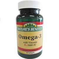 Wholesale Nature's Benefits Omega-3 with Vitamin D3 - 5000 IU