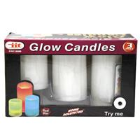 Wholesale z3pc LED RGB FLAMELESS CANDLES