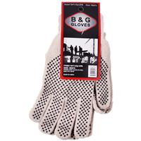 Wholesale White Glove With 2-Sided Grip Dots 2 Pair Value Pa