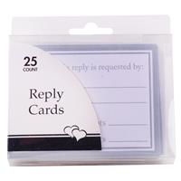 Wholesale White & Silver Reply Cards Any Occasion