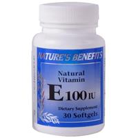 Wholesale Nature's Benefits Vitamin E 100IU Softgels