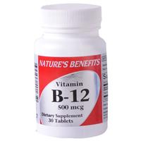 Wholesale Nature's Benefits b-12 500 MCG Tablet