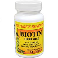 Wholesale Nature's Benefits Biotin 100mg  30ct per bottle