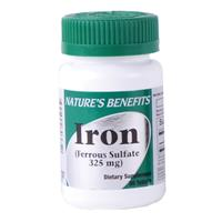 Wholesale Nature's Benefits Iron Tablets 325mg (Ferrous Sulf
