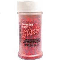 Wholesale Red Glitter Shaker Bottle.  2 oz.