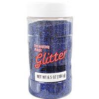 Wholesale Blue Glitter Shaker Bottle 8 oz
