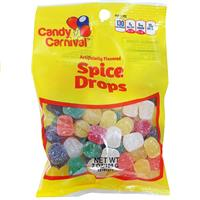 Wholesale Candy Carnival Spice Drops - Peggable bags