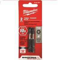 "Wholesale Milwaukee Shockwave 2pk 2"" Power Bit T30"