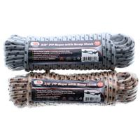"Wholesale 3/8"""" X 50' PP Rope With Snap Hook"