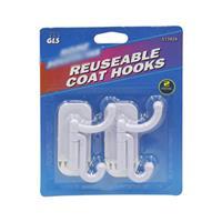 Wholesale Coat Hooks Reusable - 2 ct.