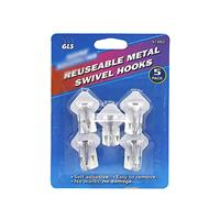 Wholesale Reusable Metal Swivel Hooks 5 pack