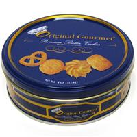 Wholesale Original Gourmet Holiday Butter Cookie Tin 18% Butter