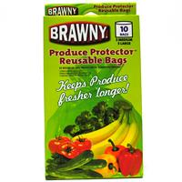 Wholesale Brawny Produce Protector Bags - Reusable 5 Medium, 5 Large