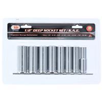 "Wholesale 8pc 1/2"" Dr. Deepwell Socket Set SAE"