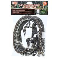 "Wholesale 4PC 24"" Camo Bungee Cord Assortment"