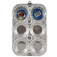 Wholesale Foil Muffin Pan 2 pack 10 x 6.5 x 1.25""""""""