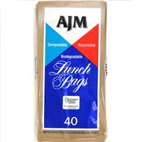 Wholesale AJM Brown Paper Lunch Bags - 40 ct.