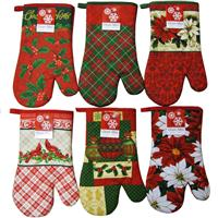 wholesale christmas oven mitt collection 6 assorted designs
