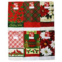 Wholesale Christmas Kitchen Towel Collection 6 Assorted Desi