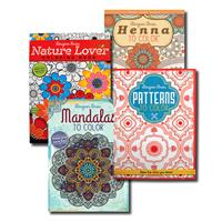 Wholesale Coloring Books For Adults 4 Titles 48 Pages