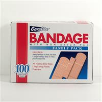 Wholesale Coralite Assorted  Bandage Strips 100'S