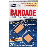 Wholesale Coralite Clear Waterproof Bandage Assorted