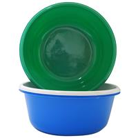 "Wholesale Large Round Bowl 11.5""""""""-Assorted Blue, Rose, Green"