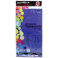 "Wholesale Purple Plastic Tablecover 54"" x 108"""