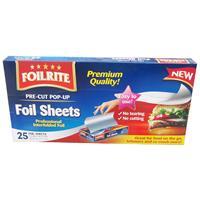 Wholesale 25CT PRE-CUT POP UP FOIL SHEETS 12x12.5''