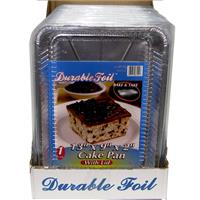 """Wholesale Foil Cake Pan 13 x 9 x 2"""""""""""""""" with Lid"""