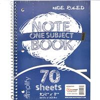 Wholesale zNOTEBOOK 1 SUBJECT 70 SHEET W