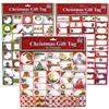 Wholesale Christmas Peel N' Stick Gift Tags 80+ Pieces 3 Ass